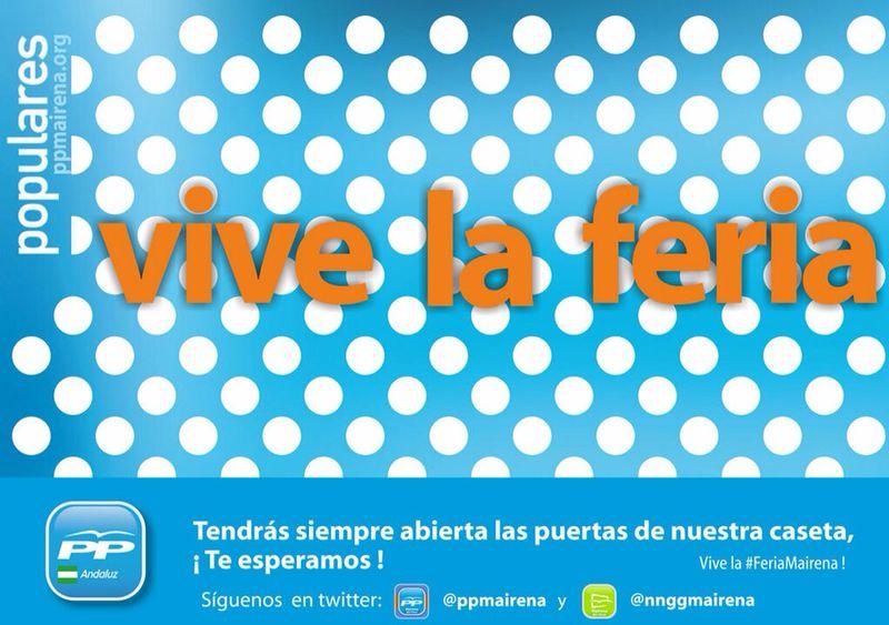 Cartel feria caseta PP Mairena_800