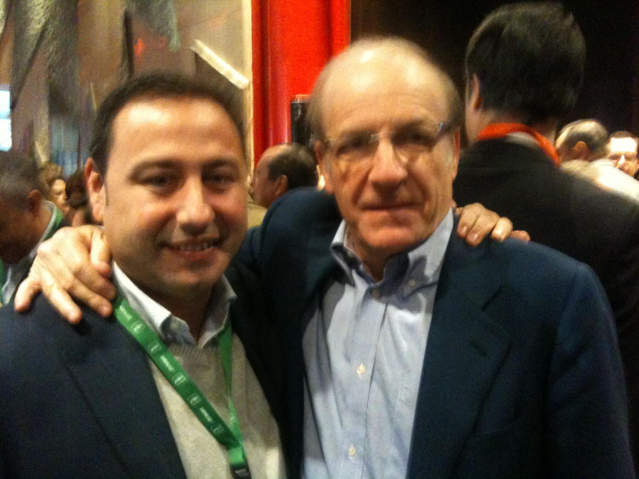Ricardo Sánchez con Pedro Rodríguez