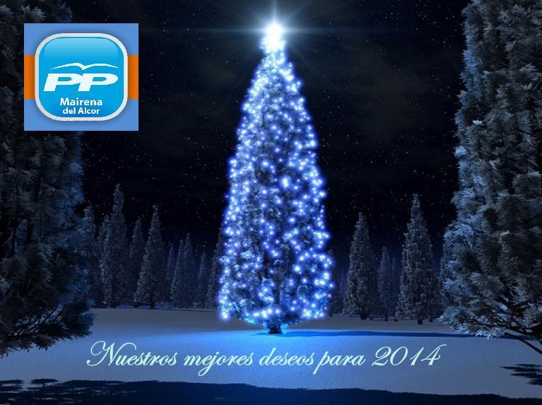 Los que formamos parte del grupo popular de Mairena del Alcor os deseamos que estas Navidades paséis unas Felices Fiestas, y nuestros mejores deseos para 2014.